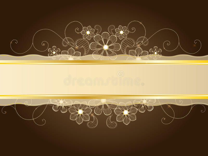 Download Gold lace stock vector. Image of gold, detail, blank - 22402158