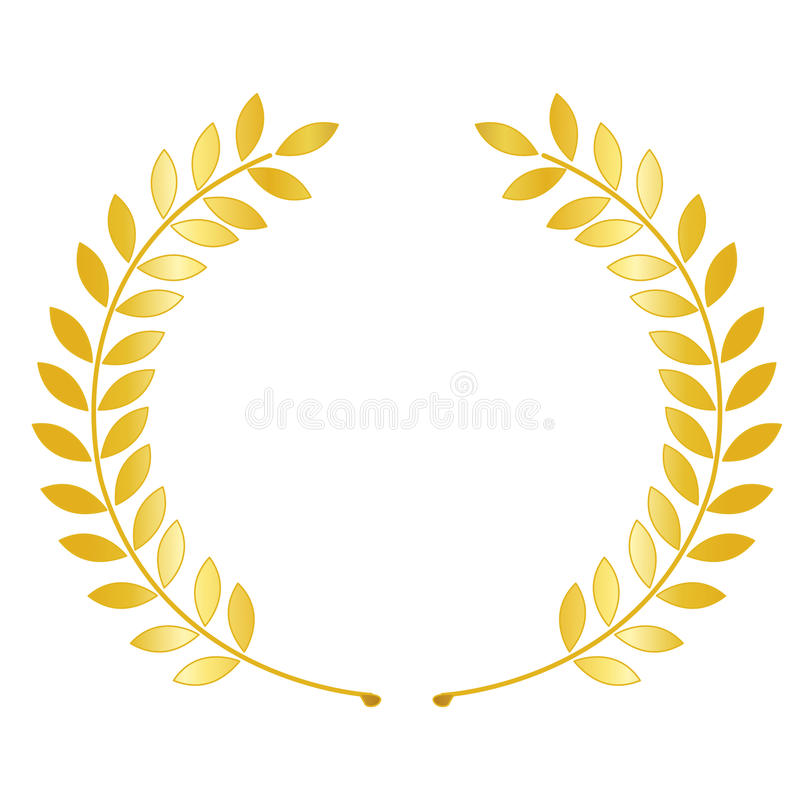 Download Gold laurel wreath stock vector. Image of leader, sandamali - 16199605