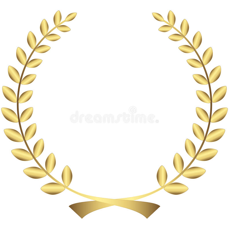 how to make a gold laurel wreath