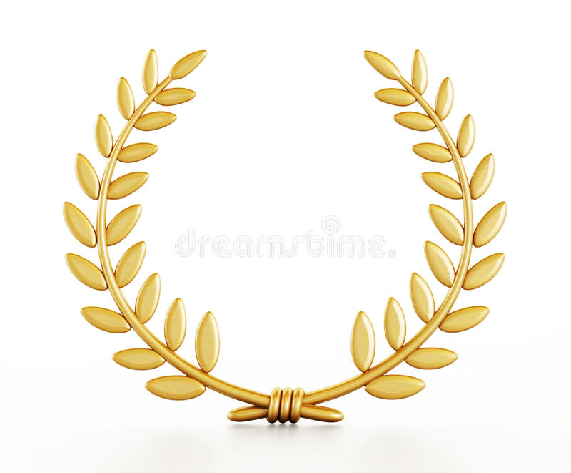 Gold laurels royalty free illustration