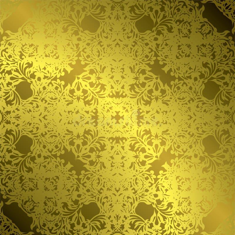 Gold leaf vector illustration