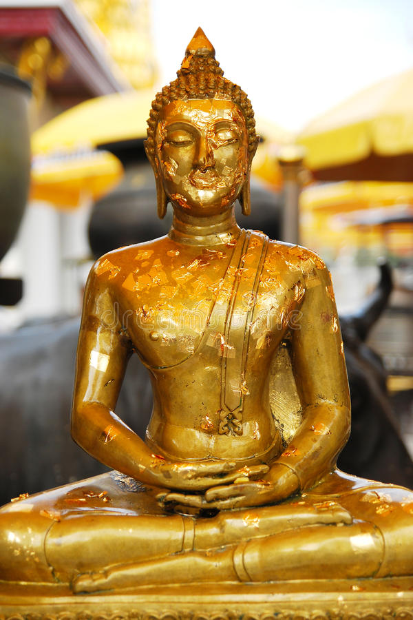 Download Gold leaf of buddha stock photo. Image of buddhism, leaf - 12151544