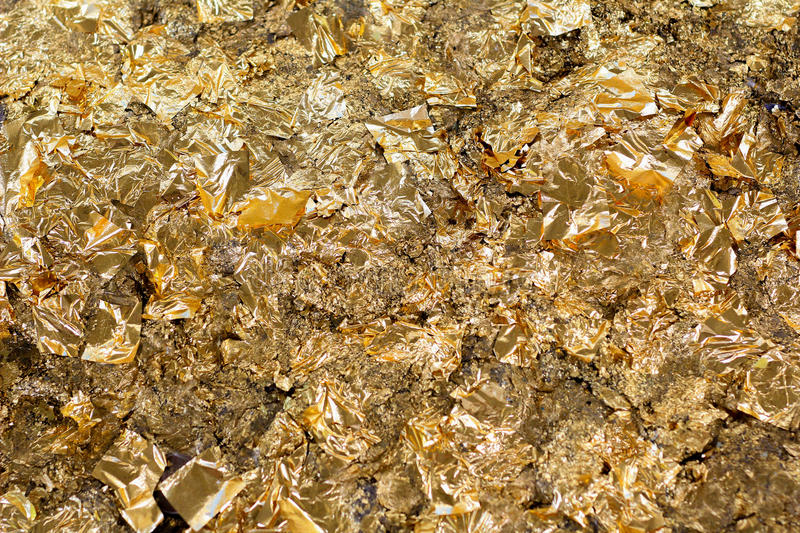 Gold leaf royalty free stock photos