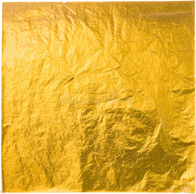Gold leaf. Isolated on a white background