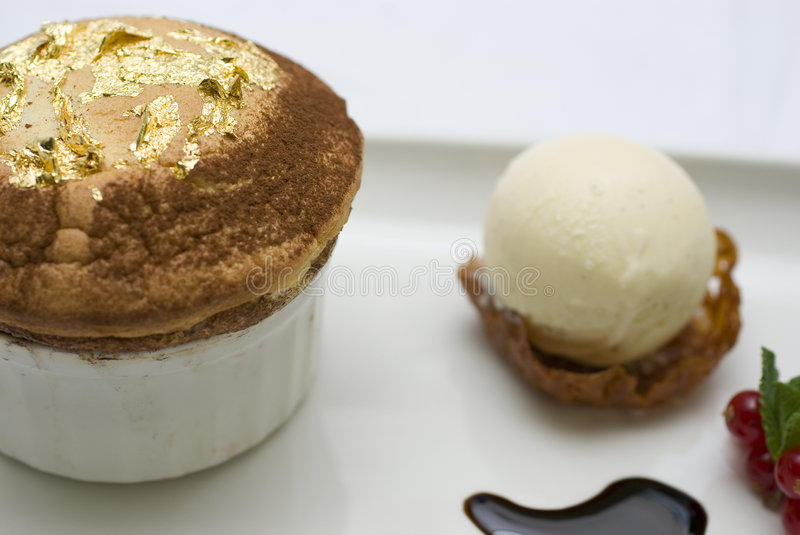 Download Gold leaf souffle7 stock photo. Image of food, filigree - 4562344