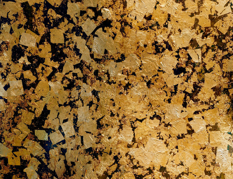 Gold leaf texture background royalty free stock images