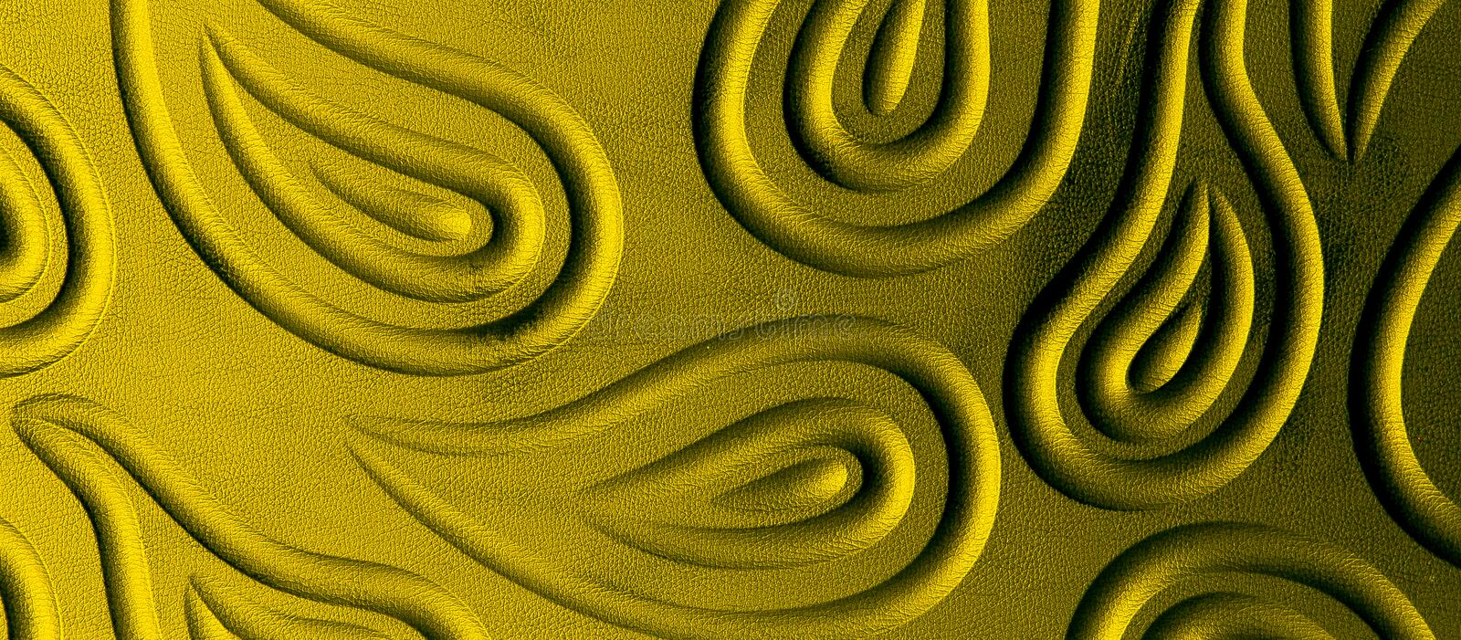 Gold leather texture. able to use as a background royalty free stock photo