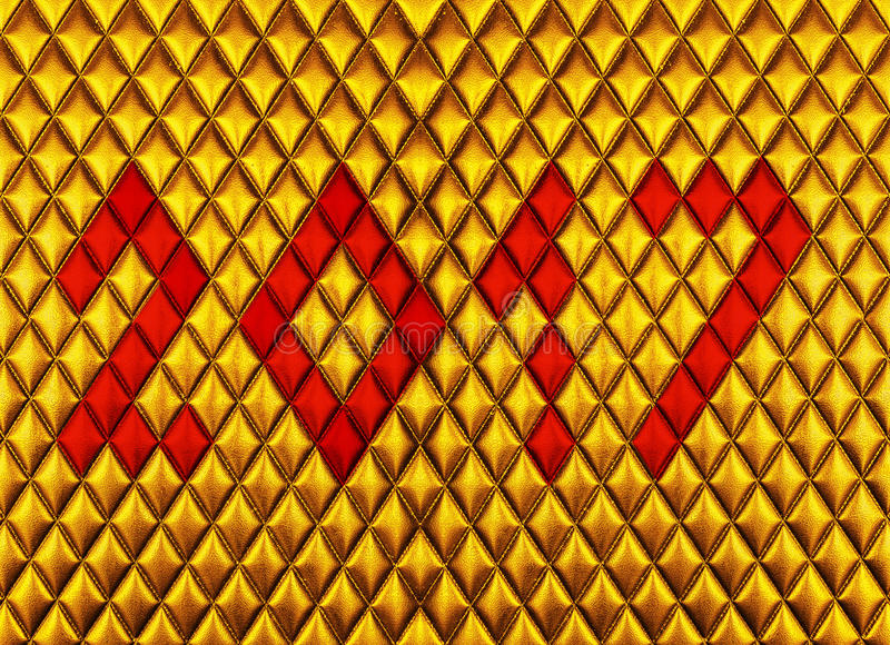 gold Leather upholstery texture royalty free stock photo