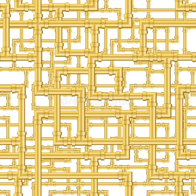 Gold leitet Muster vektor abbildung