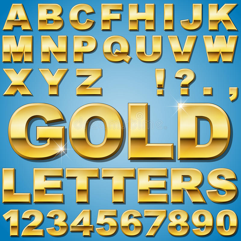 Free Gold Letters Stock Photo - 35343750