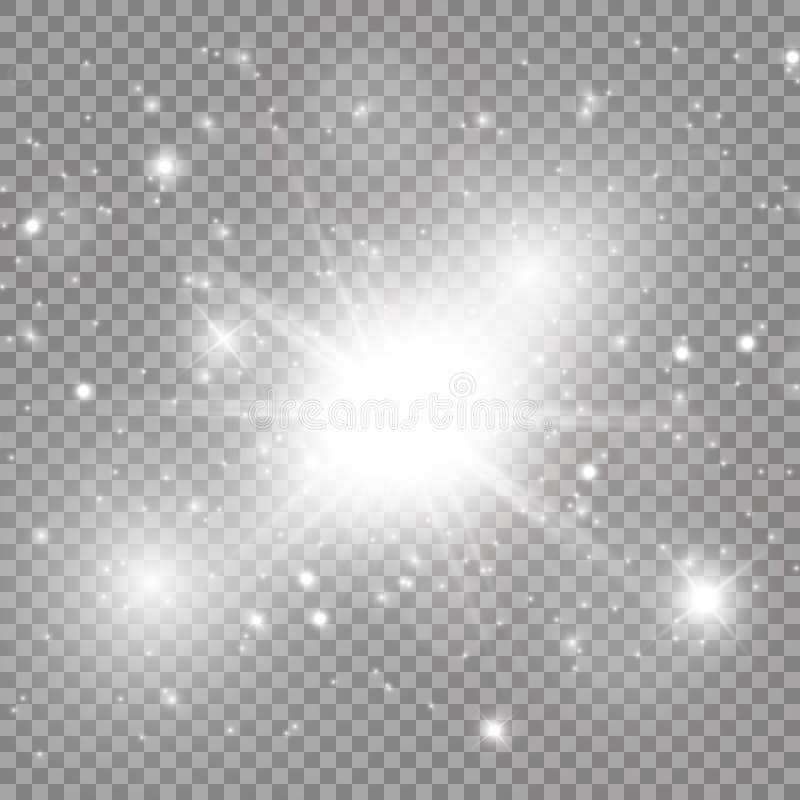 Gold light flare special effect. Illustration. royalty free illustration