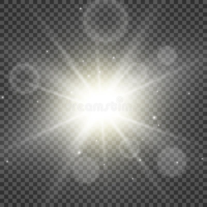 Gold light flare special effect. Illustration. vector illustration