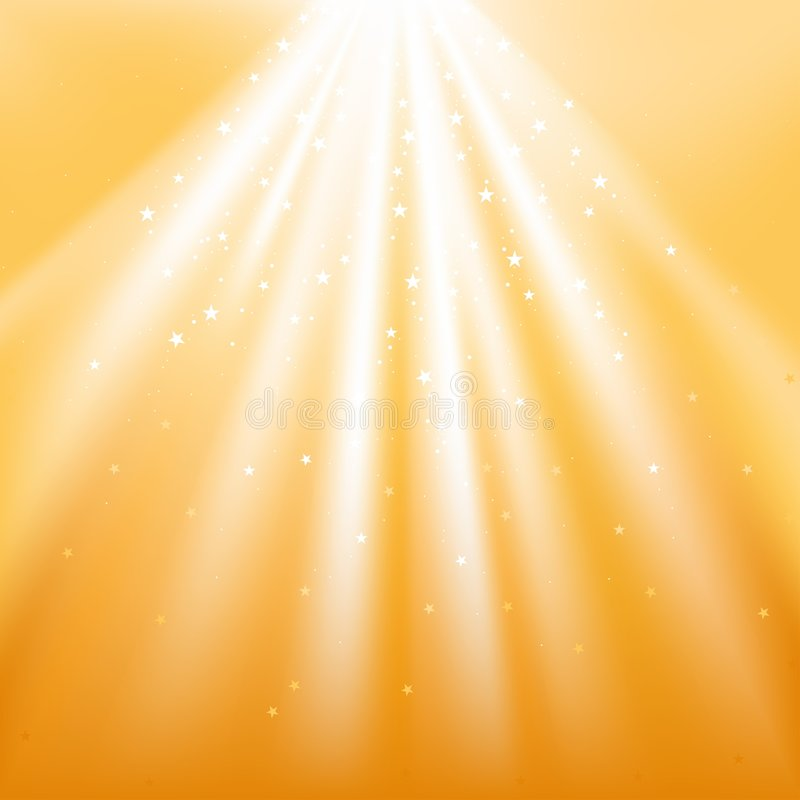 Gold Light with Stars vector illustration