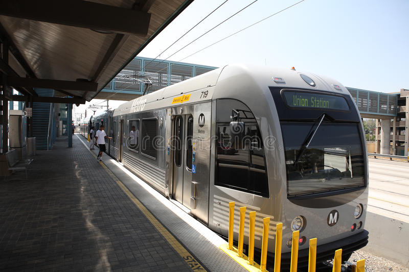 Gold line train in Los Angeles County