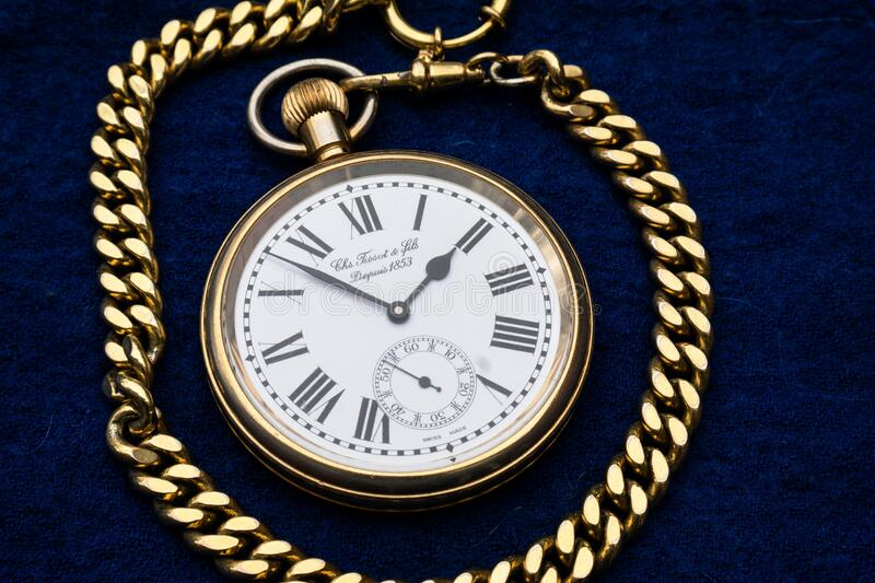 Gold Link Pocket Watch Free Public Domain Cc0 Image