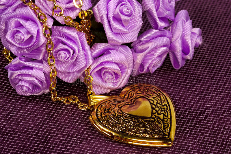Gold Locket stock photography