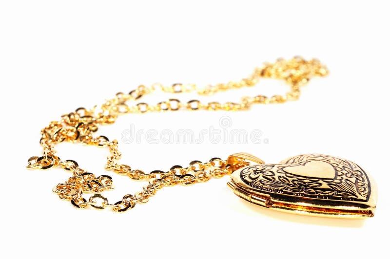 Gold Locket stock photo