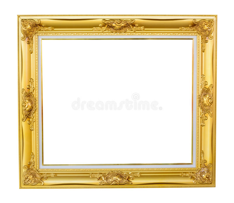 Gold louise photo frame stock image