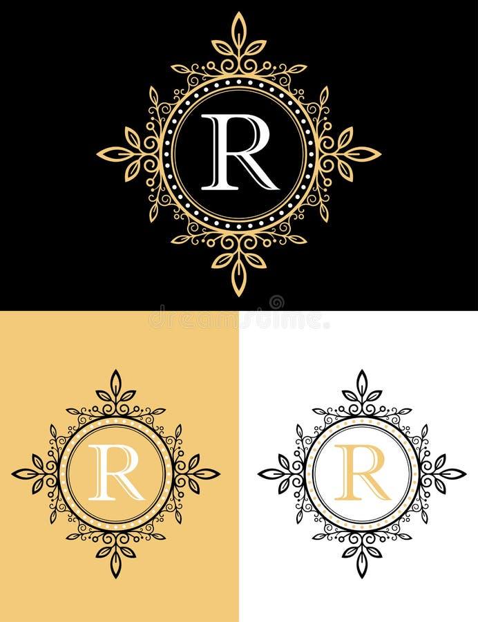 Gold Luxury Brand Logo Design Stock Vector Image 77758119