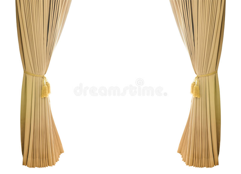 Gold luxury curtains royalty free stock image