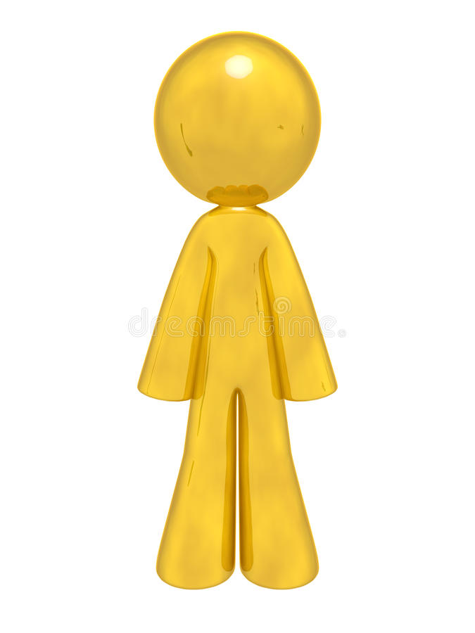 Download Gold Man Standing stock illustration. Illustration of golden - 26958732