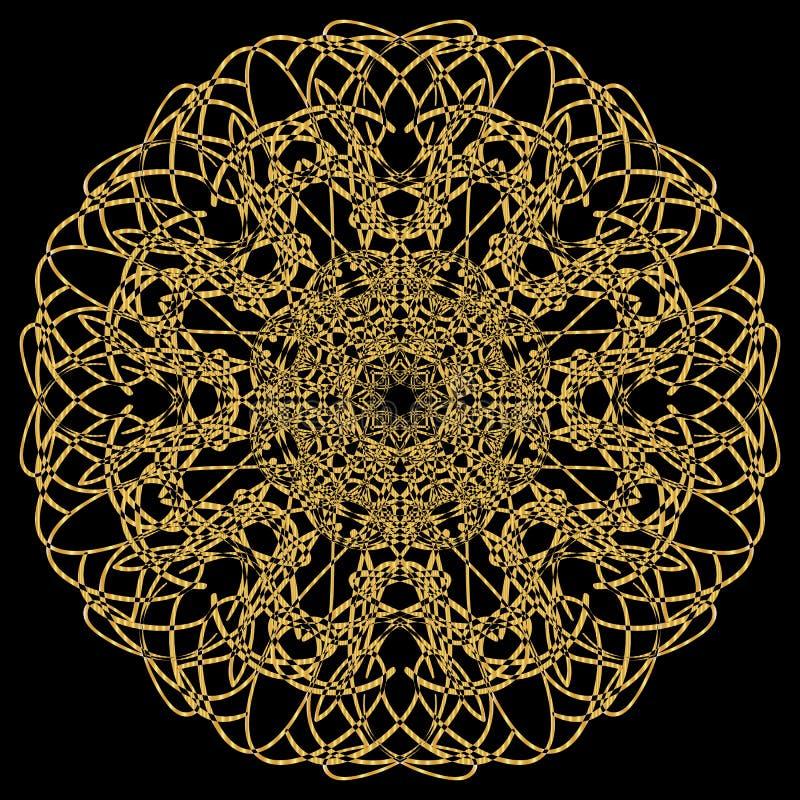 Gold mandala. stock illustration