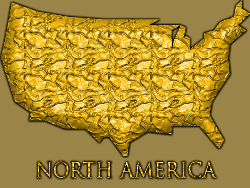 A Collection Of Golden Shapes From The US American States Maryland - Map of gold in the us