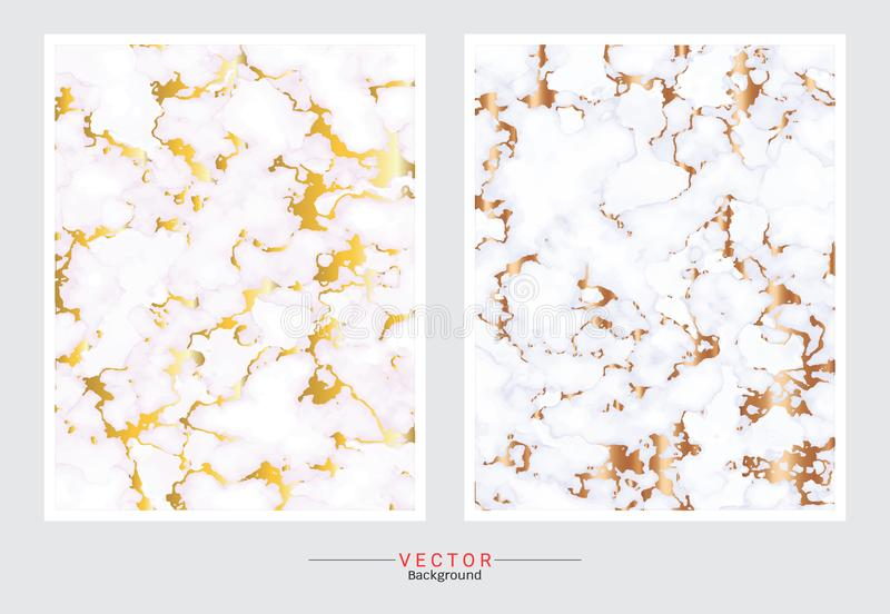 Gold marble cover background, Vector set template vector illustration