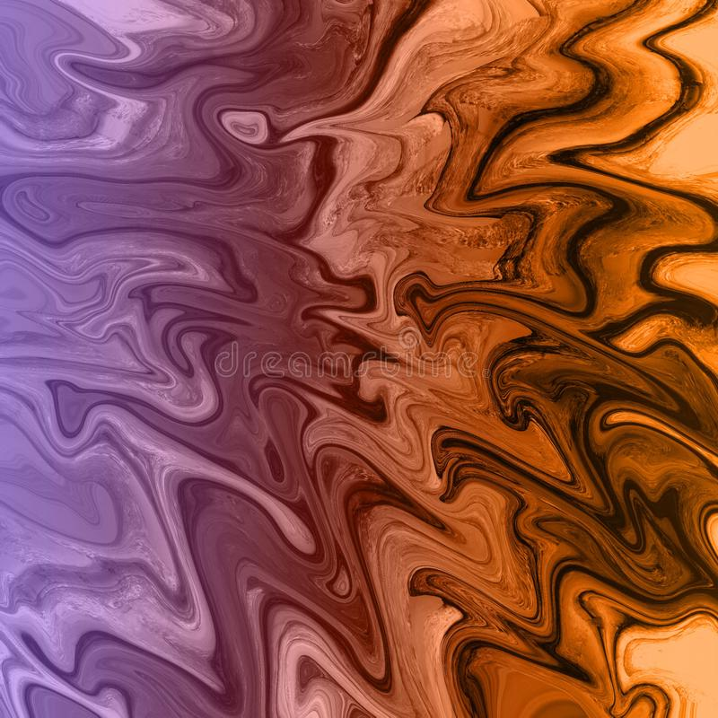 gold marble and liquid abstract background with oil painting streaks vector illustration