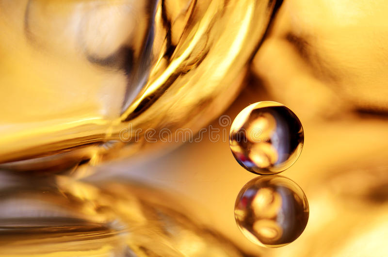 Gold marble and mirror stock image