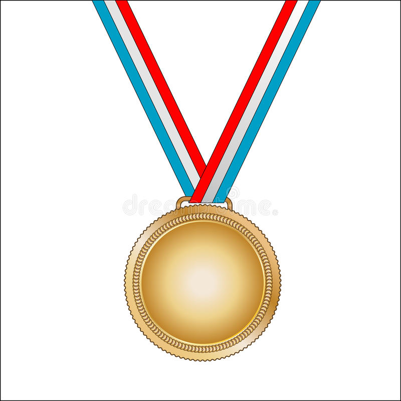 Download Gold medal stock vector. Image of gold, challenge, isolated - 15717541