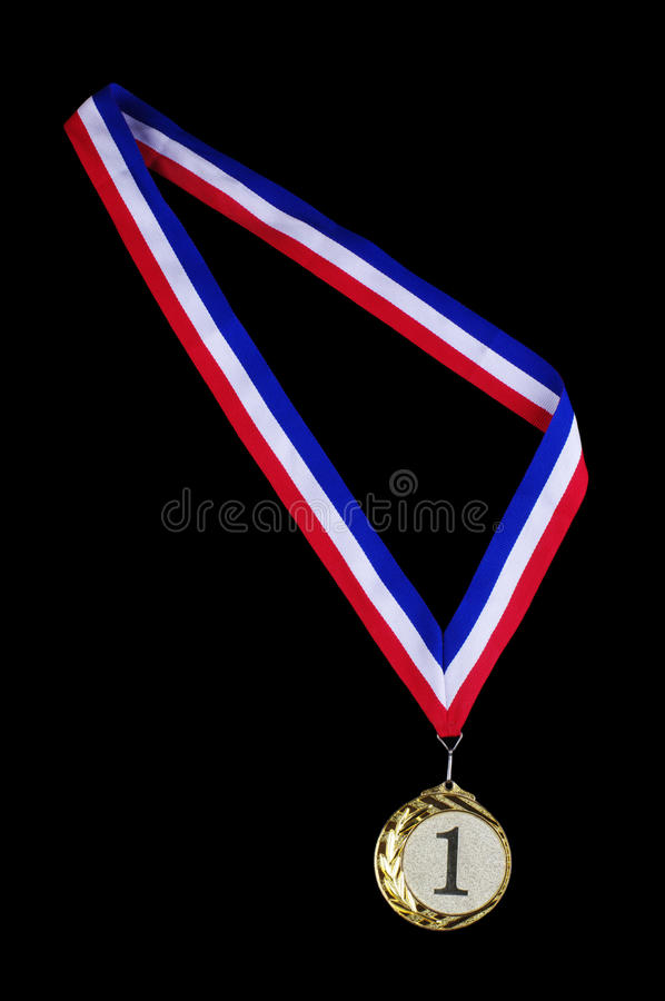 Download Gold medal stock image. Image of isolated, first, number - 26630087