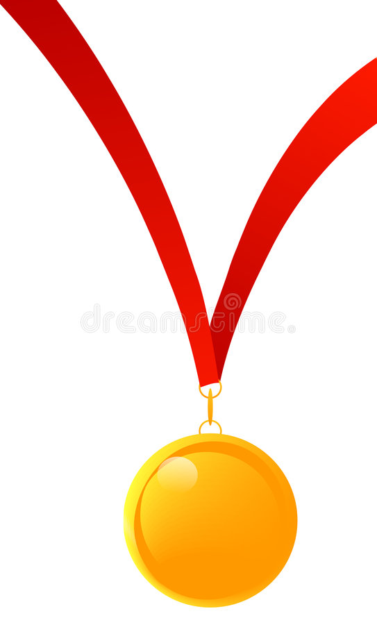 Download Gold medal stock vector. Image of object, competition - 4844905
