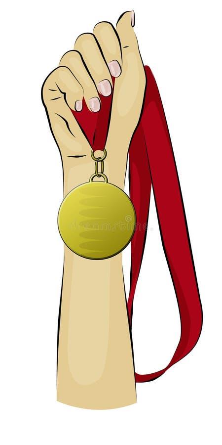 Download Gold Medal stock illustration. Illustration of competitor - 7903061