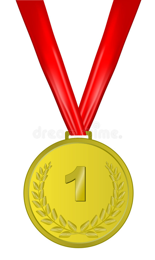 Download Gold medal stock vector. Image of determination, champion - 9311750