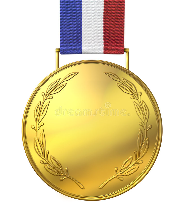 Gold medal of honour royalty free illustration