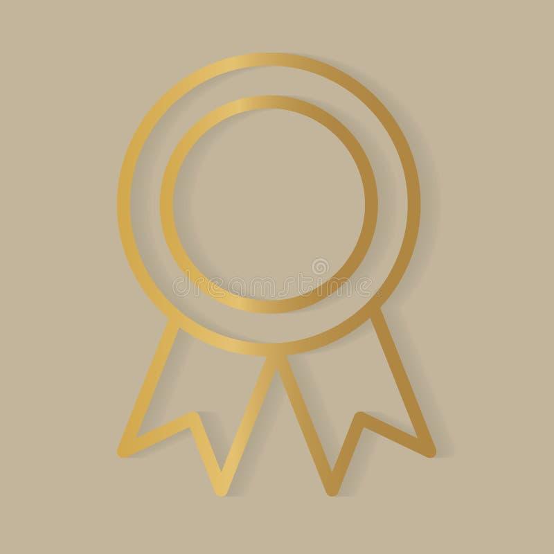 Gold medal icon. Vector illustration royalty free illustration