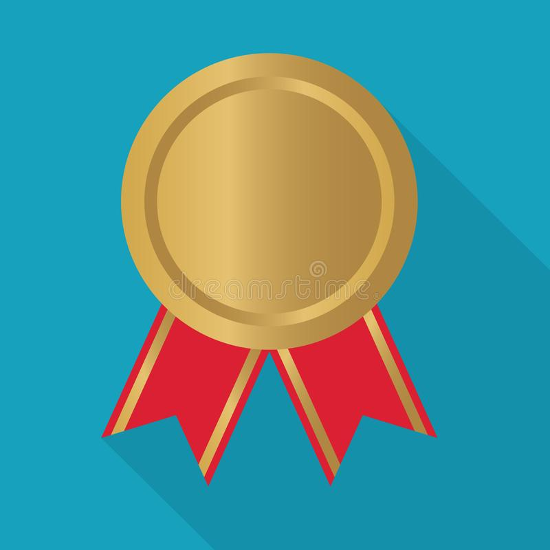 Gold medal icon. Vector illustration vector illustration
