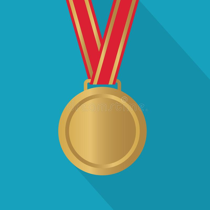 Gold medal icon. Vector illustration royalty free illustration