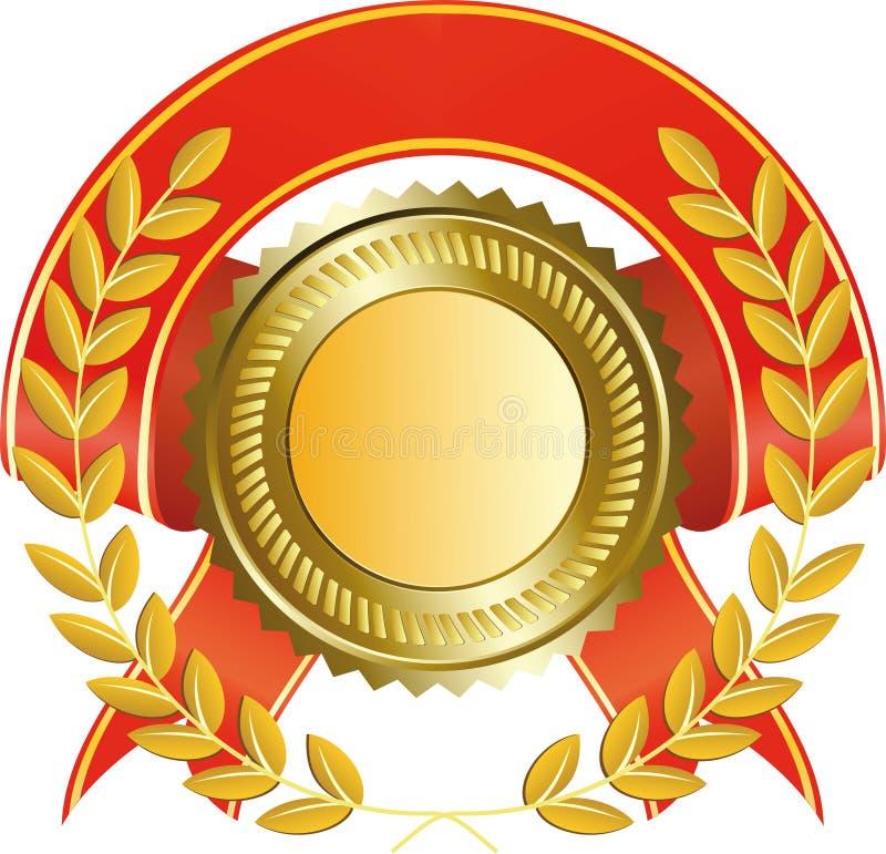 Download Gold Medal And Laurel Wreath Stock Vector - Illustration of gold, illustration: 14060350