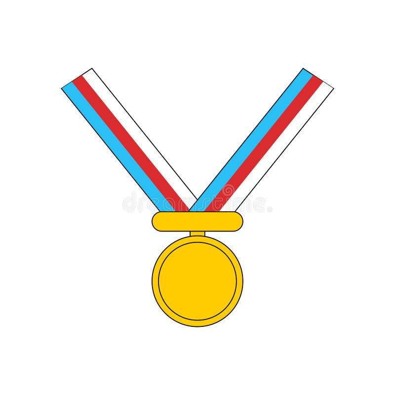 Gold medal template. Reward for first place. Vector illustration.  vector illustration