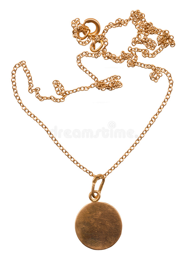 Gold medallion royalty free stock images