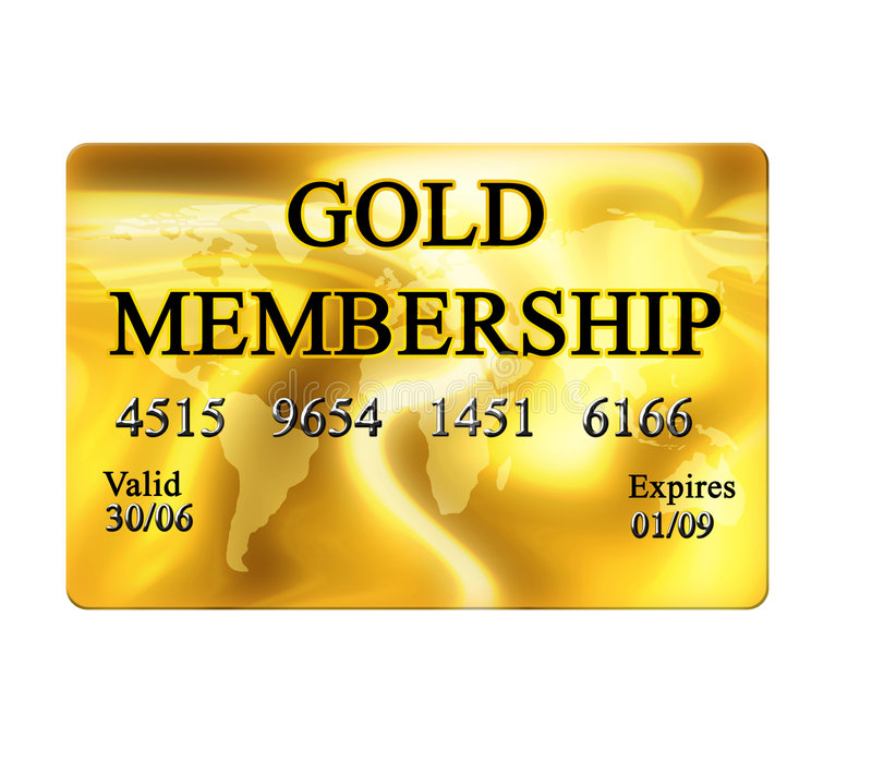 Gold Membership Card Stock Illustration Illustration Of Benefit