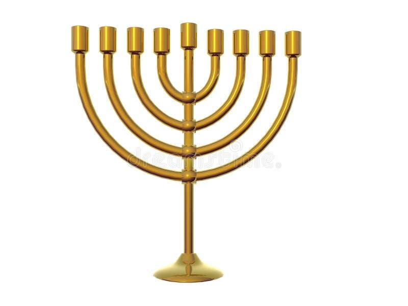 Gold Menorah. Isolated gold menorah royalty free illustration