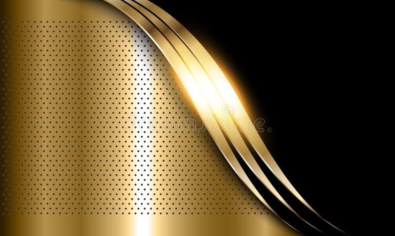 Gold metal background royalty free illustration