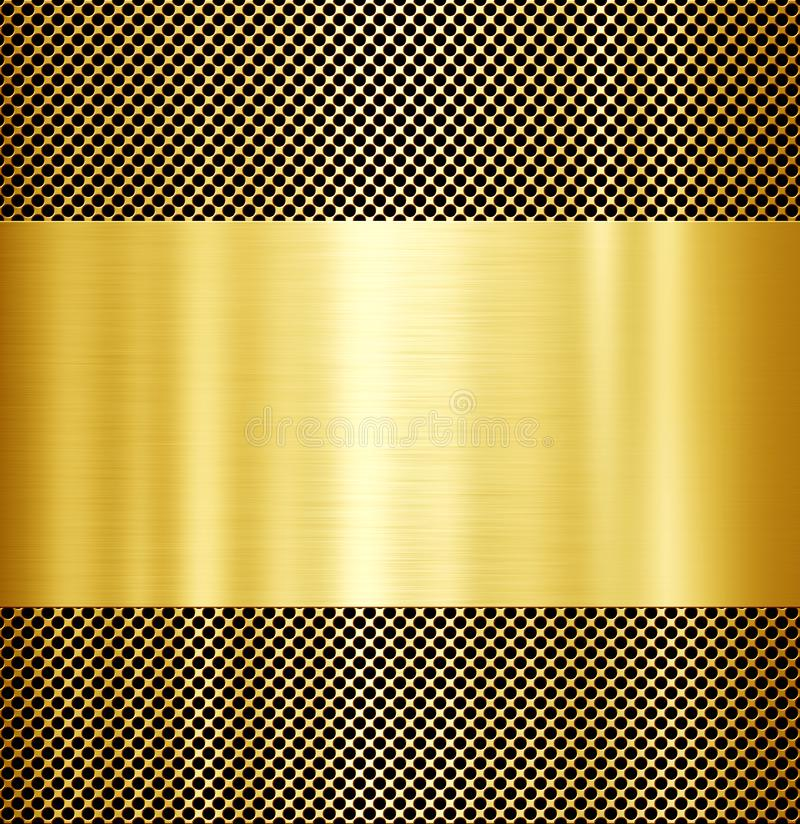 Gold metal background royalty free stock photography