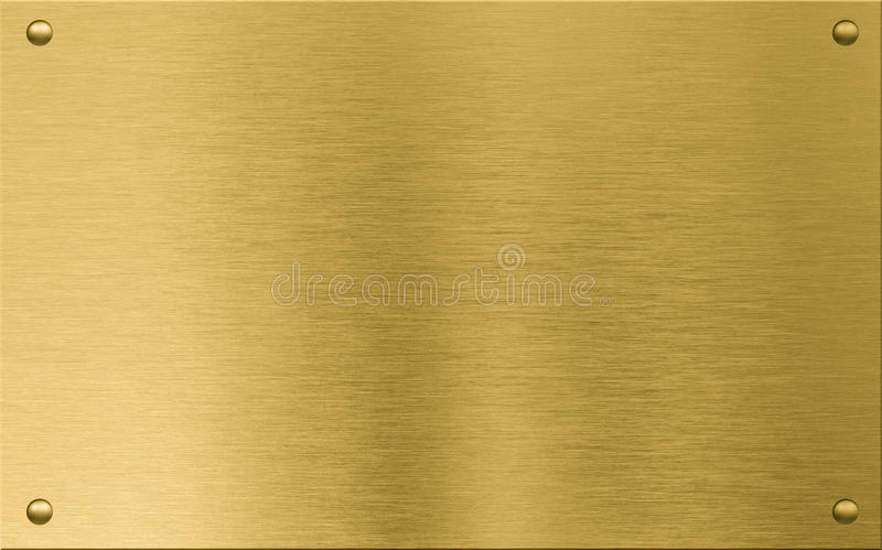 gold metal plaque or nameboard with rivets stock photo image of brass construction 54129720. Black Bedroom Furniture Sets. Home Design Ideas