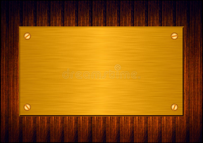 Download Gold metal plate stock illustration. Image of abstract - 21232697