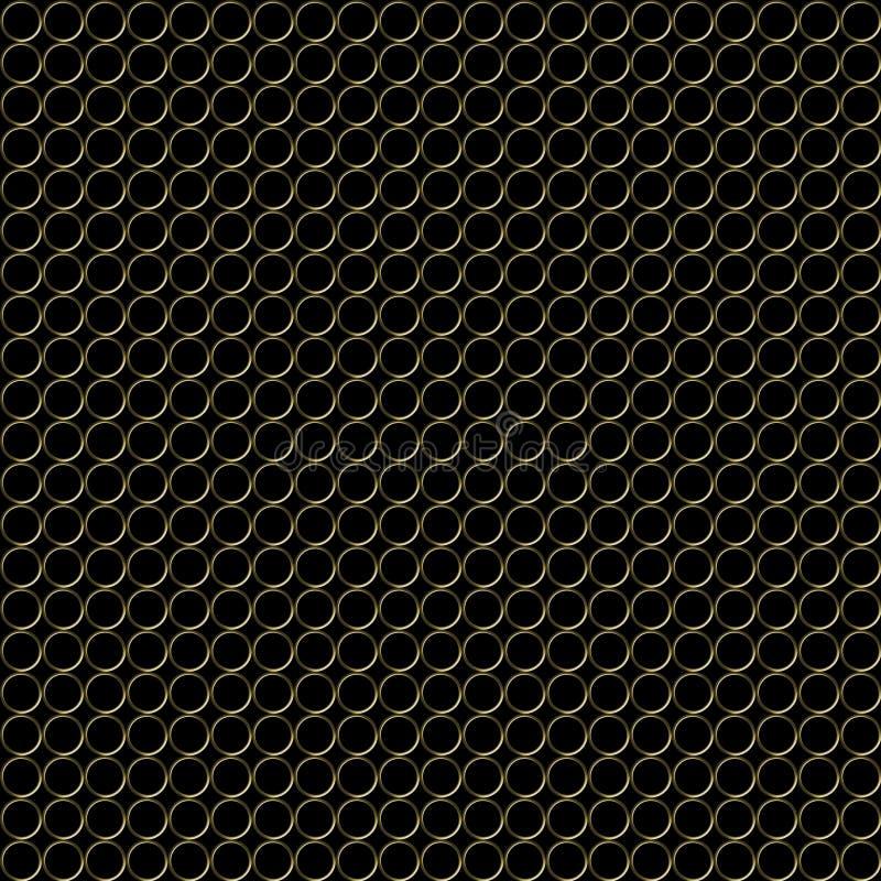 Download Gold metal rings pattern stock illustration. Illustration of aligned - 16146040