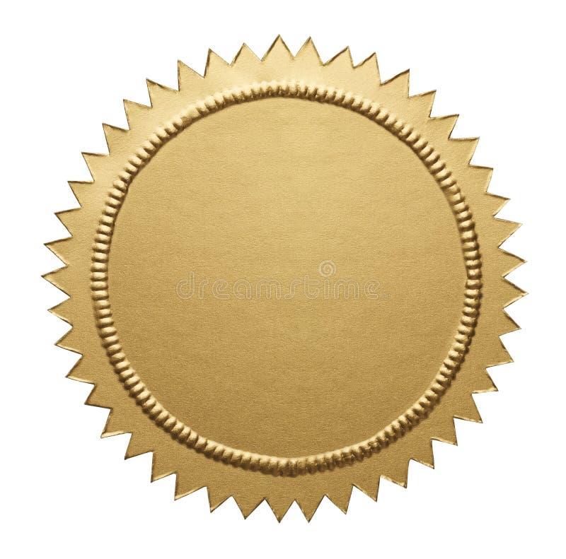 Gold Metallic Seal stock photo